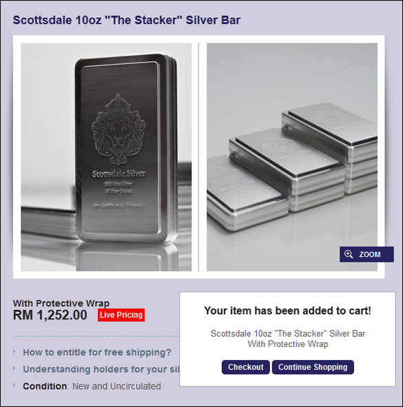 Buy Silver in Malaysia with 2% discount