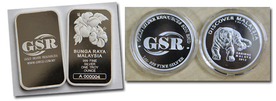 Bunga Raya Malaysia and Harimau Malaya 1oz silver bar by GSR2u.com.my