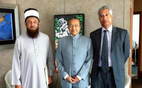 Sheikh Imran Hosein with Dr Mahathir