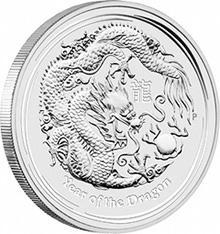 Perth Mint Silver Dragon 2012