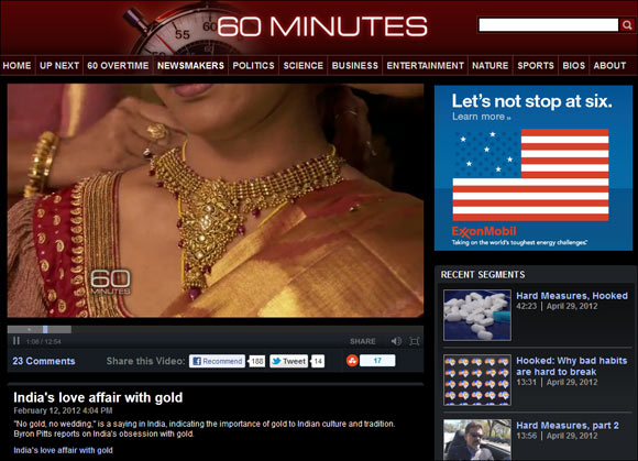60 Minutes: India's Love Affair with Gold
