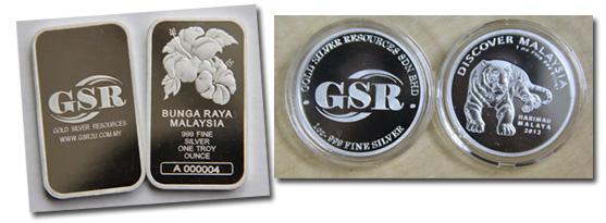 Bunga Raya Malaysia and Harimau Malaya 1oz silver bar by GSR2u.com.my