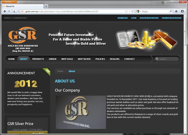 GSR2u.com.my is by Gold Silver Resources Sdn Bhd Malaysia
