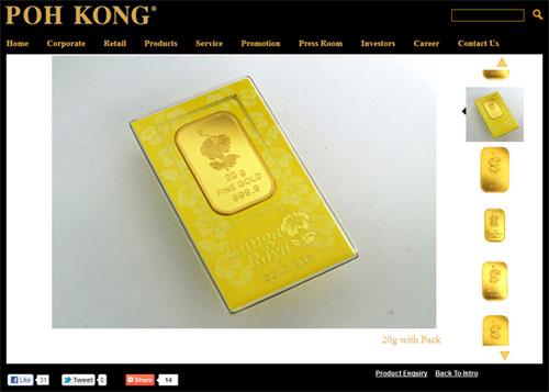 Poh Kong 20g Bunga Raya Gold Bar